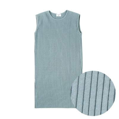 COMFORTABLE FIT RIBBED SIMPLE DRESS: MINT