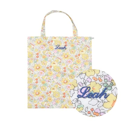 [Liberty of London]<br> FLOWER PATTERN ECO BAG: BETSY YELLOW