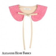 FABRIC NECK COLLAR: HEATH PINK<br/>