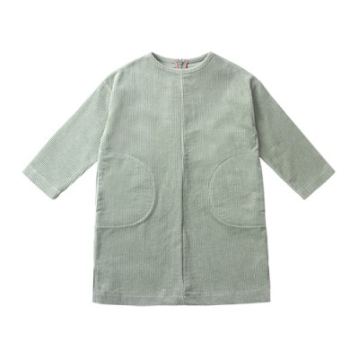 POCKET CORDUROY DRESS Ⅱ: GREEN TEA<br/>