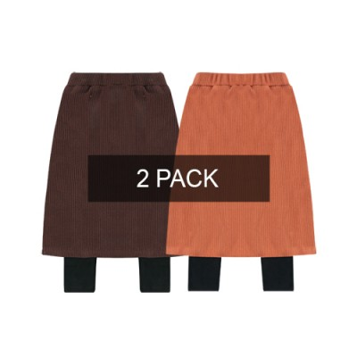 RIBBED SKIRT LEGGINS: 2PACK