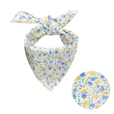 PETIT FLOWER SCARF: BLUE FLOWER