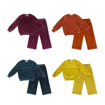 VELOR SWEATSHIRTS & PANTS SET