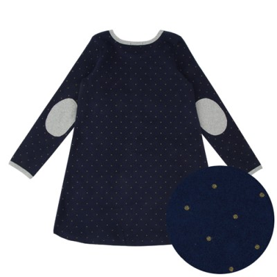 GOLD DOT PATCH ONEPIECE: NAVY