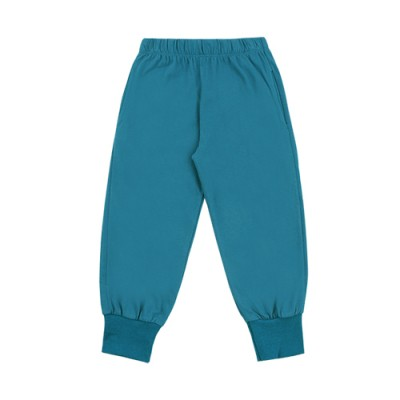 WELLMADE JOGGER PANTS: PEACOCK GREEN