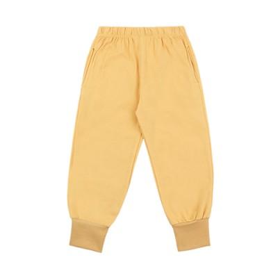 WELLMADE JOGGER PANTS: YELLOW