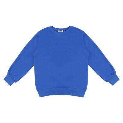BASIC COTTON SWEATSHIRT: BLUE