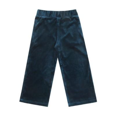 VELOUR TRAINING PANTS: BLUE GREEN