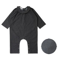 BABY PLAY SUIT: BROWN CIRCLE<br/>