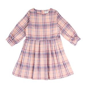 MADRAS CHECK DRESS: PINK <br/>