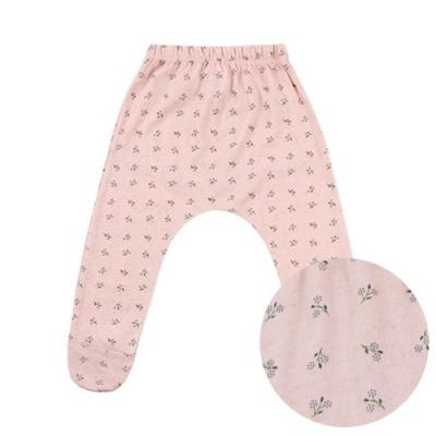 BABY FOOT BAGGY PANTS: FLOWER PINK