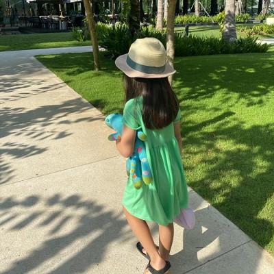 ROLL-UP DRESS: NEON GREEN