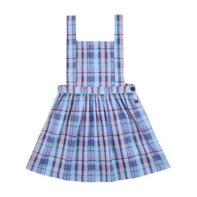 FRENCH APRON ONEPIECE: BLUE CHECK