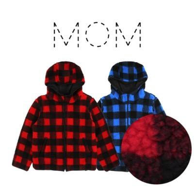 FLEECE CHECK HOODY JUMPER: MOM