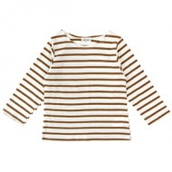 SINGLE STRIPE TEE: YELLOW OAKER<br/> [J130 Add:D]<br/>