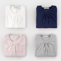 little basic shirring tees<br/> [Phichimo]<br/>