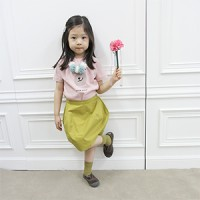 pumpkin block skirt: yellow green<br/>