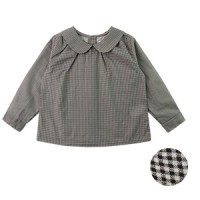 CLASSIC COLLAR BLOUSE: BLACK GINGHAM CHECK