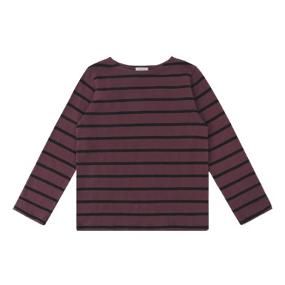 #05 STRIPE TEE: WINE<br/>