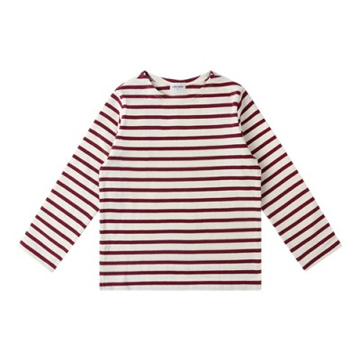 #06 STRIPE TEE [10-thick fabric]: BURGUNDY<br/>