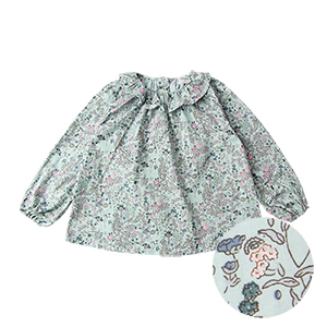 FLOWER RUFFLE BLOUSE: MINT