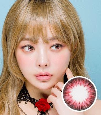 【生産終了予定品! お早めに!】[超高コスパ1ヶ月レンズ]ジェムピンク カラコン[着色直径:13.0mm】シリコーンハイドロゲル*しっとり発色Gem pink