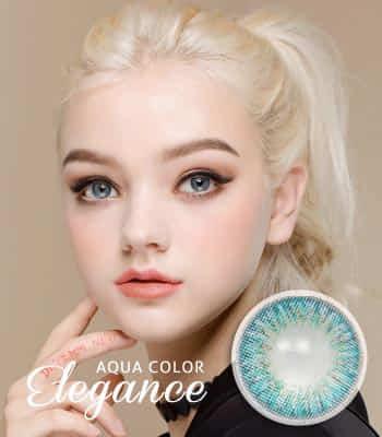 [王女の瞳3ヶ月レンズ]エレガンス・アクア カラコン[着色直径:12.8mm】UVカット*発色パーティーElegance Aqua