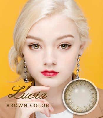 [あざと可愛い]ルチアブラウン カラコン[着色直径:13.4mm]さりげないレンズ*落ち着いた目元Lucia Brown
