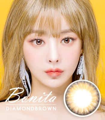 Bonita Dia ブラウンカラコン 最高品質 [直径 : 14.0mm 着色:13.4mm] 度あり度なし~12.00まで Diamond Brown