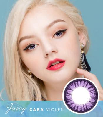 【乱視用カラコン2枚】ジューシー・カーラ・バイオレット「PREMIUM」[直径 : 14.0mm 着色:13.3mm]Juicy Cara Violet 高発色