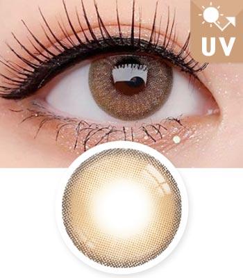 【UVカット・最高品質】クレオパトラ・ブラウン3D立体カラコン「3ヶ月レンズ」|含水率:43% 着色直径:13.2|ナチュラルハーフ Cleopatra 3D Elite Brown