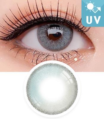 【UVカット・最高品質】クレオパトラ・グレーカラコン3D立体「3ヶ月レンズ」|含水率:43% 着色直径:13.2|ナチュラルハーフ Cleopatra 3D Elite Gray