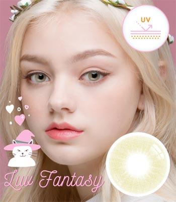 【UVカット・最高品質】ラブ ファンタジー・ジェードカラコン「3ヶ月レンズ」|含水率:43% 着色直径:13.1|Luv Fantasy Jade ナチュラルハーフ