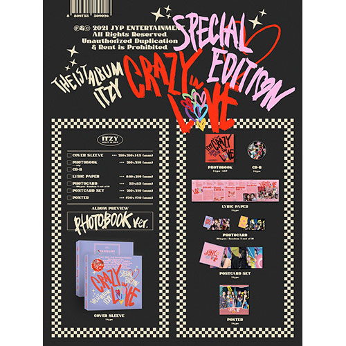 ITZY (있지) -  The 1st Album : CRAZY IN LOVE  Special Edition [PHOTOBOOK Ver.]