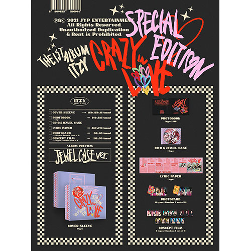 ITZY (있지) -  The 1st Album : CRAZY IN LOVE  Special Edition [JEWELCASE Ver.]