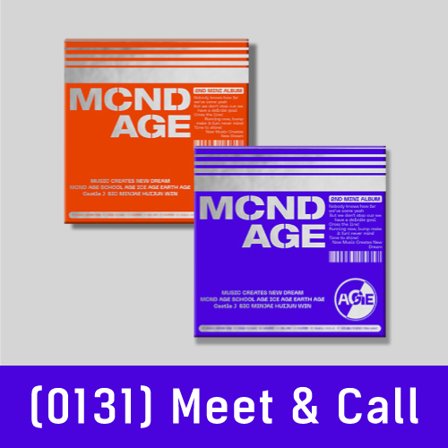 (0131) [MEET & CALL] MCND - 미니2집 : MCND AGE [2종 중 1종 랜덤]