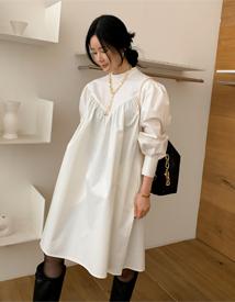 Bay shirring dress