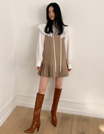 Wool herringbone dress
