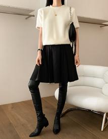Deet pleats skirt