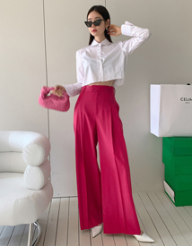 Burning wide pants