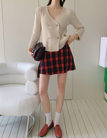 Tennis check skirt