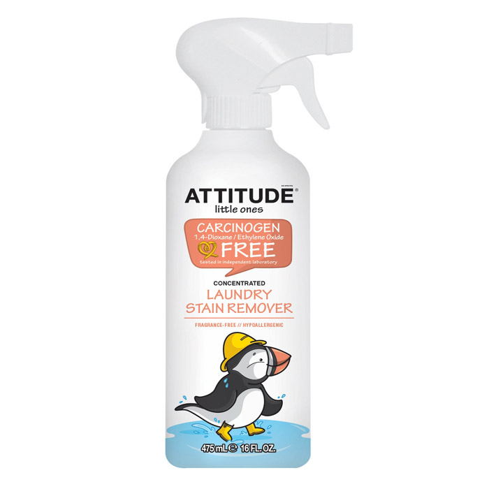 ATTITUDE Laundry Stain Remover: Little Ones (Fragrance Free) (475 ml, 16 oz)
