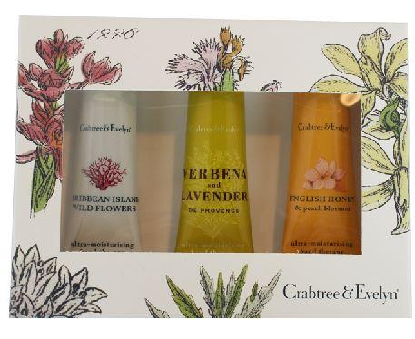 Crabtree & Evelyn Hand Therapy Gift Set (Caribbean Island, Verbena, English Honey)