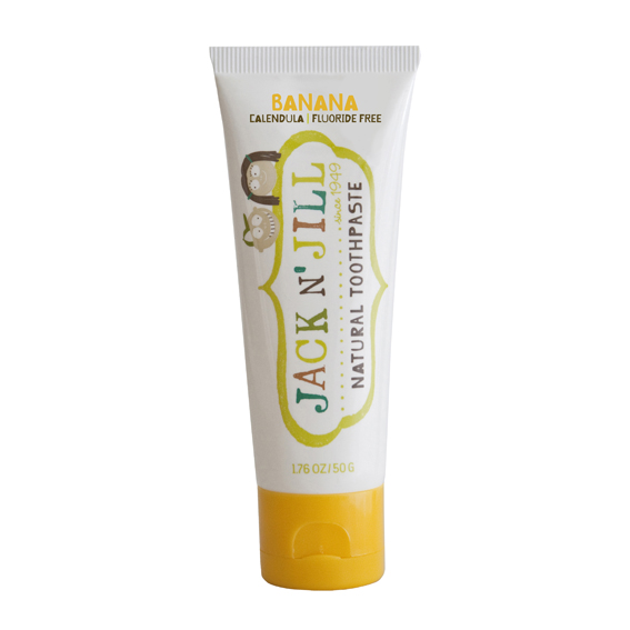 JACK N JILL Natural Toothpaste: BANANA (1.76 oz, 50g)