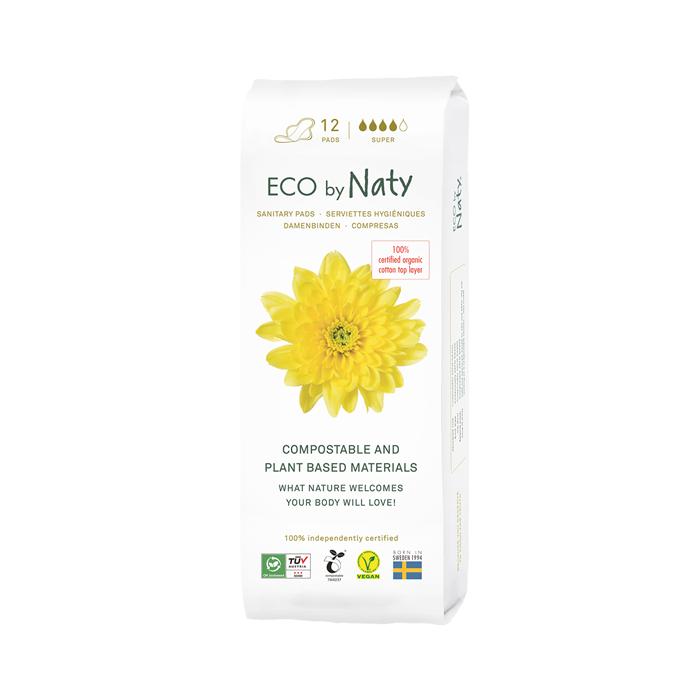 Naty 100% Eco Thin Pads, Super(13 ct)