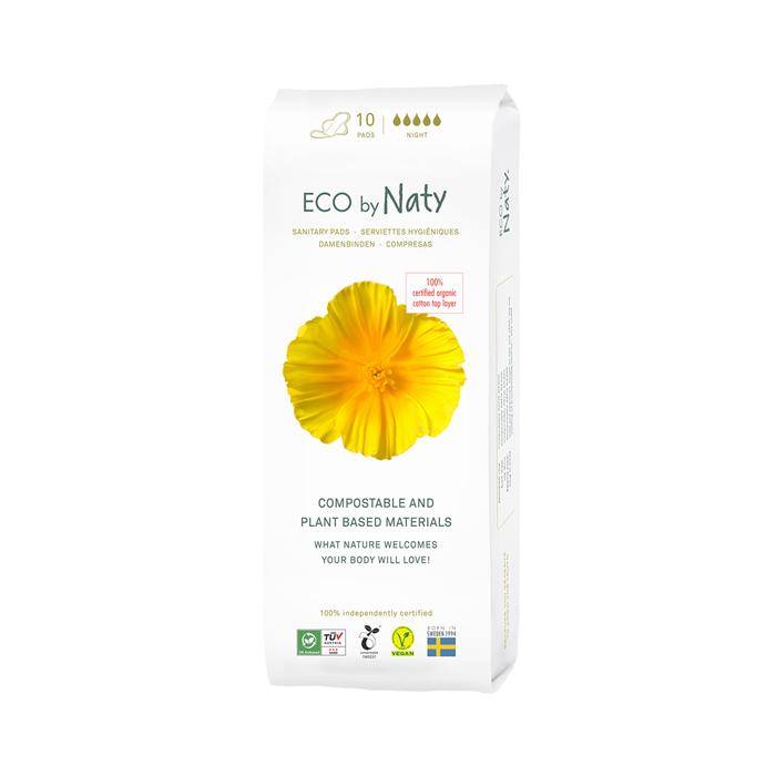 Naty Natural Thin Pads, Night(10 ct)