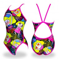 """<b><font color=""""red"""">[February special price]</font></b> <br> WSN-8908 <BR> Lovely cotton BK / PK <BR> Female athlete flip-turn"""