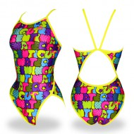 """<b><font color=""""red"""">[February special price]</font></b> <br> WSN-8903 <BR> Cutiety PK / YL <BR> Female athlete flip-turn"""