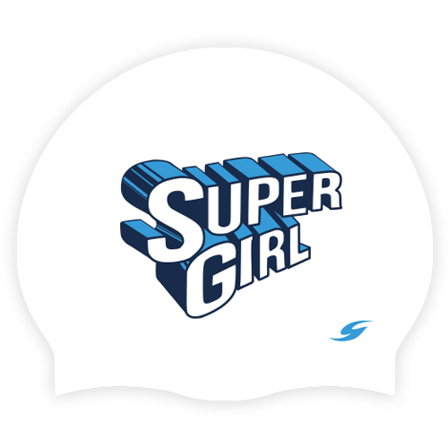 SC-2055-BL <BR> Supergirl_White / Blue