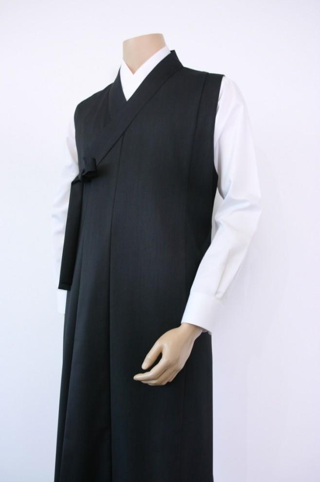 Wool Dark Grey Vest